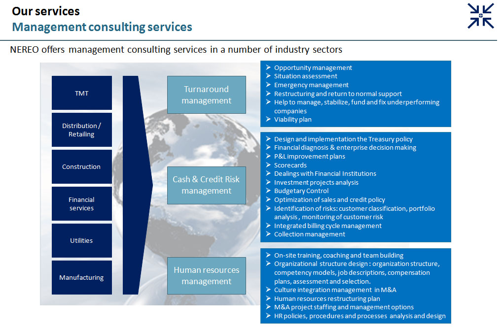 management advisory services The experienced professionals at the hutt co provide a wide array of financial and management consulting services to our small and mid sized business clients we bring the firm's many areas of expertise together in comprehensive engagements to take advantage of business opportunities, solve business challenges and.